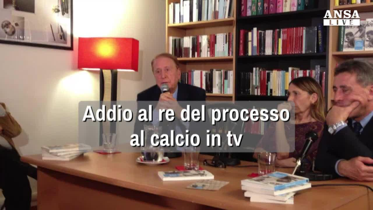 Morto Biscardi, addio al re del processo al calcio in tv